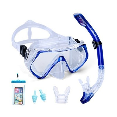 Supertrip Snorkel Set Adults-Scuba Snorkeling Diving Mask with Impact Resis