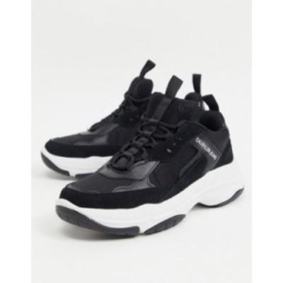 カルバンクライン メンズ スニーカー シューズ Calvin Klein Jeans marvin sneakers in black Black