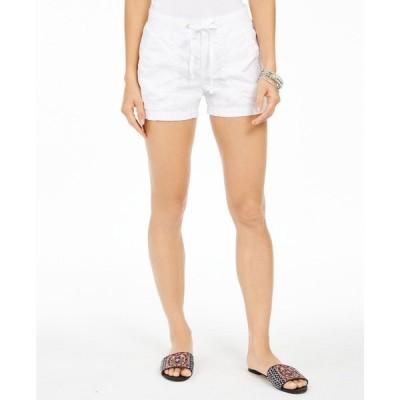 スタイル&コー Style & Co レディース ショートパンツ ボトムス・パンツ Poplin Tie Shorts Bright White