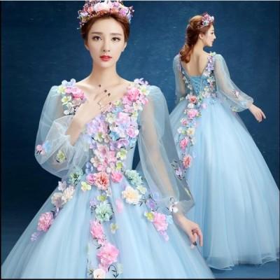 Vネック 二次会 パーティードレス 演奏会 発表用ドレス ウェディングドレス ピアノ 結婚式 イブニングドレス お嬢様 タイトワンピース ドレス レディース ロング