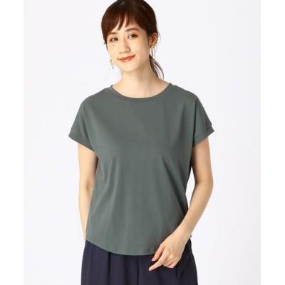 COMME CA ISM/コムサイズム 《コットン》 日本の伝統色(R)Tシャツ 納戸鼠(ターコイズ) S