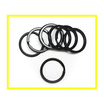 送料無料 All in ONE Flat Key Chain Rings Metal Split Ring for Home Car Keys Organization DIY (ブラック 30mm-20pcs) 並行輸入品