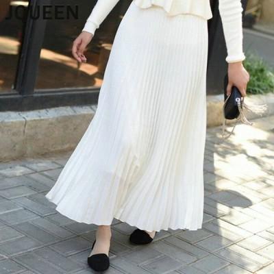 スカート ロングスカート マキシスカート ロング レディース フレアスカート プリーツ 柔らかい ふんわり 着心地 ゆったり シンプル 無地 女性らしい