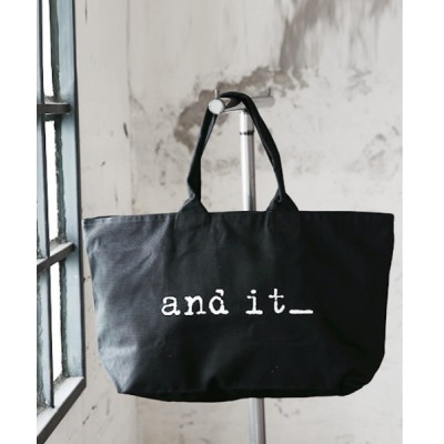 and it_ / 【and it_】ロゴ入りキャンバストートZIPバッグ WOMEN バッグ > トートバッグ