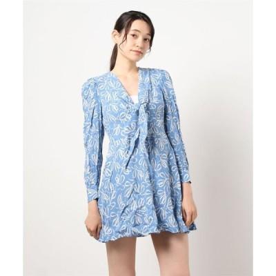 ドレス HEIDIEE リボンプリント ミニドレス