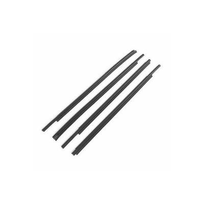 4pcs/Set Window Weatherstrip Rubber Black 68210-0C020 Fit for CrewMax 2007?2019