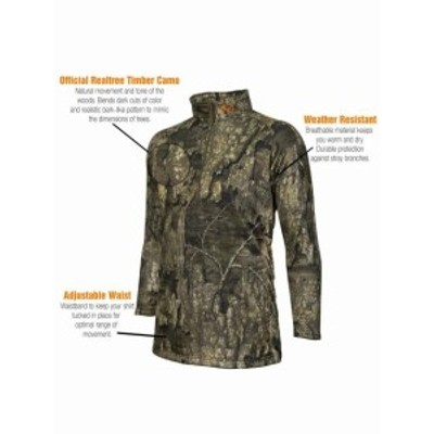 hyde ハイド ファッション トップス Realtree Camo 1/4 Zip Pull Over by Hyde Gear Weather Resistant Zipper Vent Ou...