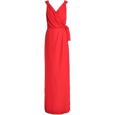 RAOUL ロングワンピース&ドレス レッド 32 シルク 100% ロングワンピース&ドレス