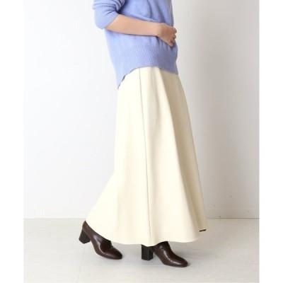 スカート フェイクレザーマキシスカート◆