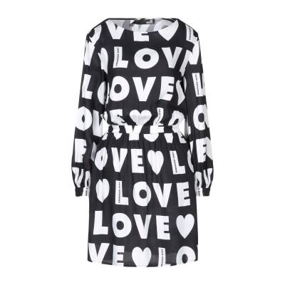 ラブ モスキーノ LOVE MOSCHINO ミニワンピース&ドレス ブラック 46 レーヨン 100% ミニワンピース&ドレス