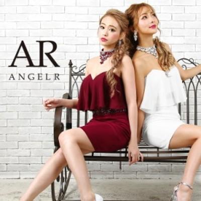 Angel R エンジェルアール ドレス キャバ ドレス キャバドレス エンジェル アール ドレス チョーカー付き2ピース風デザインタイトミニド