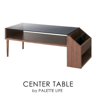 ローテーブル センターテーブル ガラス テーブル おしゃれ 木製 収納 マガジンラック 新生活