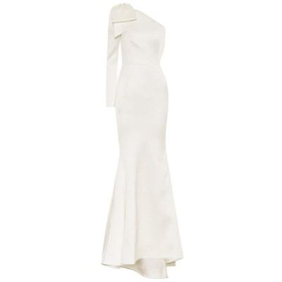 レベッカ ヴァランス Rebecca Vallance レディース ワンピース ワンピース・ドレス embellished hammered-satin dress Ivory