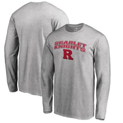 ユニセックス スポーツリーグ アメリカ大学スポーツ Rutgers Scarlet Knights Proud Mascot Long Sleeve T-Shirt - Ash Tシャツ