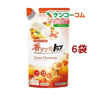 香りつづくトップ スウィートハーモニー 柔軟剤入り洗濯洗剤 つめかえ用 ( 720g*6袋セット )/ 香りつづくトップ