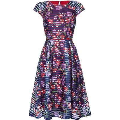 ユミ Yumi レディース パーティードレス ワンピース・ドレス spanish floral dress Dark Navy