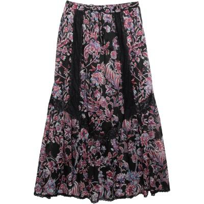 ジャストカヴァリ JUST CAVALLI ロングスカート ブラック 40 コットン 100% / ナイロン ロングスカート