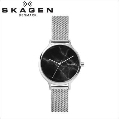 (クリアランス) 時計 スカーゲン SKAGEN アニタ Anita SKW2673 腕時計 レディース ブラック (大理石) シルバー メッシュ