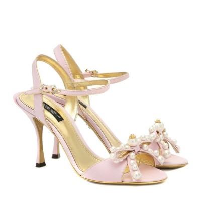 ドルチェ&ガッバーナ Dolce & Gabbana レディース サンダル・ミュール シューズ・靴 Keira 85 embellished moire sandals Powder Pink/Multicol