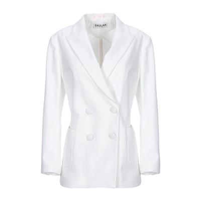 SAULINA Milano テーラードジャケット ホワイト 42 コットン 95% / 指定外繊維(その他伸縮性繊維) 5% テーラードジャケット