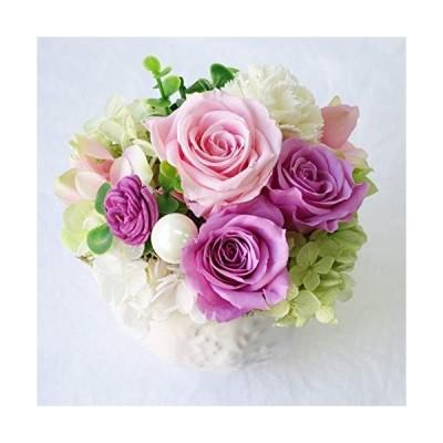 花 誕生日 フラワー フラワーアレンジメント プリザーブドフラワー 誕生日プレゼント 女性 プレゼント (ピンクバラ) (ピンクバラ)