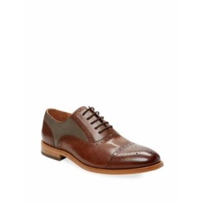 ウォーフィールド&グランド メンズ シューズ オックスフォード 革靴 Leather Colorblock Oxford Shoe