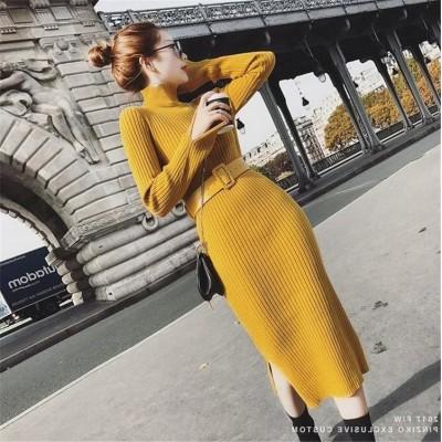 高レビュー多数✨超特価中 韓国ファッション CHIC気質 おしゃれな 新品 大人気 トレンド 秋冬物 中・長セクション セーター ニットワンピース