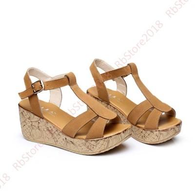 厚底 サンダル 可愛い 靴 厚底サンダル ウェッジ Tストラップ レディース 軽量 6cm ヒール 疲れない ウェッジサンダル 長時間 ウエッジソール おしゃれ 夏