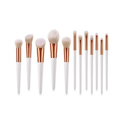 化粧ブラシセット 高級10本セット 化粧筆 パウダーブラシ 超柔らかい 毛量たっぷり 高級タクロン コスメ (グレイ)