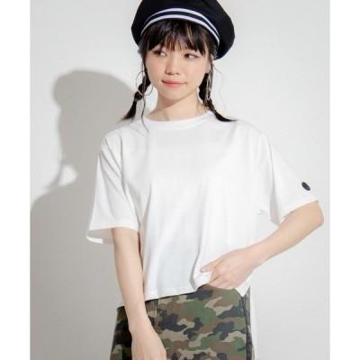tシャツ Tシャツ ∴WEGO/Kappa/別注ミニロゴスリットTシャツ