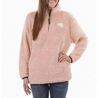 ファッション トップス Ivory Ella Pink Size XS Junior Long Sleeve Faux Sherpa 1/2 Zip Sweater