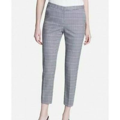 Calvin Klein カルバンクライン ファッション パンツ Calvin Klein NEW Gray Plaid Womens Size 10P Petite Crop Dress Pants