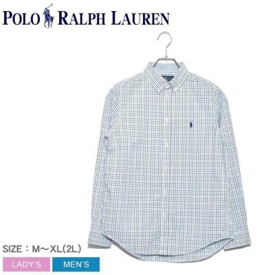 ポロ ラルフローレン 長袖シャツ メンズ レディース ワンポイント チェックシャツ 323750004 トップス シャツ