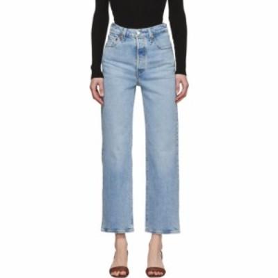 リーバイス Levis レディース ジーンズ・デニム ボトムス・パンツ blue ribcage straight ankle jeans Tango light indigo