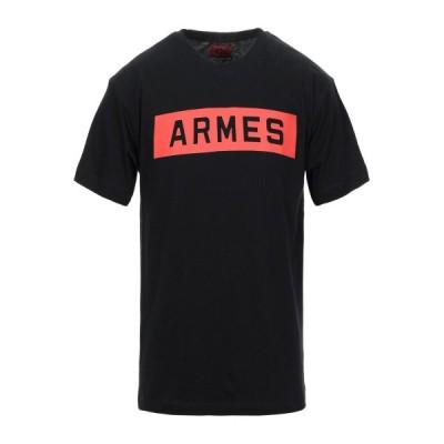 424 FOURTWOFOUR メンズ Tシャツ カットソー トップス ブラック
