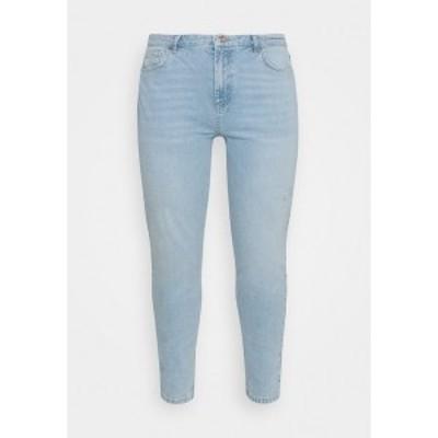ピーシーズ カーブ レディース デニムパンツ ボトムス Relaxed fit jeans - light blue denim light blue denim