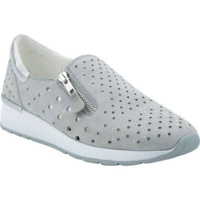 スプリングステップ Spring Step レディース スリッポン・フラット スニーカー シューズ・靴 Medinee Slip-On Sneaker Grey Perforated Suede