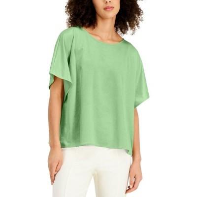 アルファニ カットソー トップス レディース Draped-Sleeve Top, Created for Macy's Pistachio Green