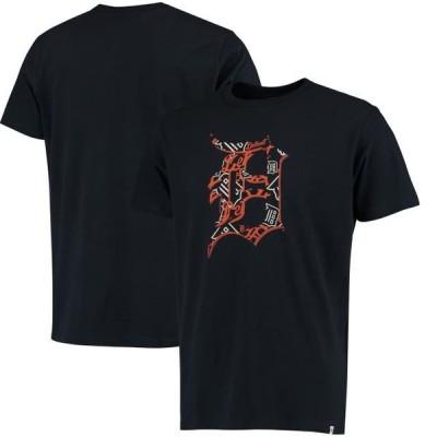 ユニセックス スポーツリーグ メジャーリーグ Detroit Tigers '47 Crosstown Aloha Flanker T-Shirt - Navy Tシャツ