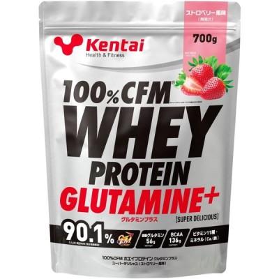 Kentai 100% CFMホエイプロテイン グルタミンプラス ストロベリー風味 700g