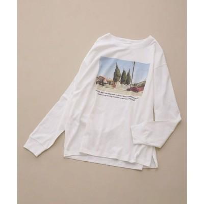 tシャツ Tシャツ balmy/別注プリントロングTシャツ