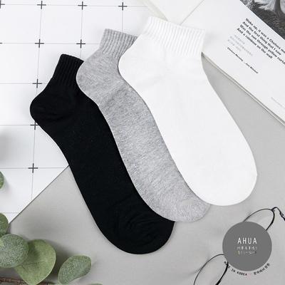 阿華有事嗎  韓國襪子 百搭純色男生短襪 男襪 型男必備  正韓百搭純棉襪