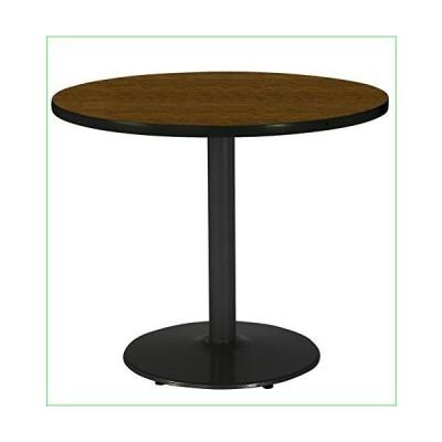 "KFI Seating Round Black Base Pedestal Table with Top, Walnut, 30""並行輸入品"