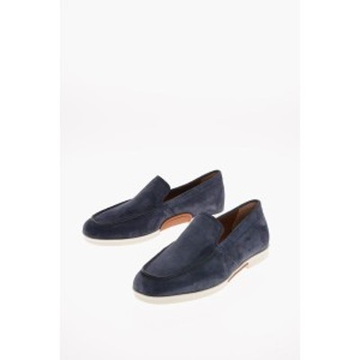 ERMENEGILDO ZEGNA/エルメネジルド ゼニア Blue メンズ EZ LUXURY Suede Leather BELLAGIO Loafers dk