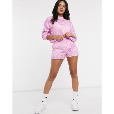 エイソス ASOS DESIGN レディース ショートパンツ ボトムス・パンツ lounge co-ord jogger short in pink tie dye ピンク