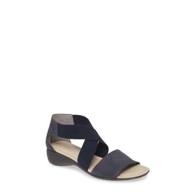 ザフレックス サンダル シューズ レディース Sunglass Too Sandal Blue Nubuck Leather