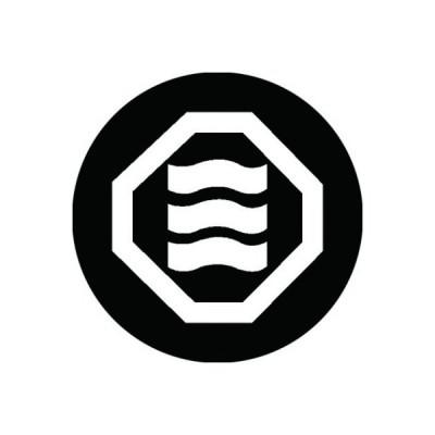 家紋シール 白紋黒地 折敷に揺れ三文字 布タイプ 直径40mm 6枚セット NS4-2070W
