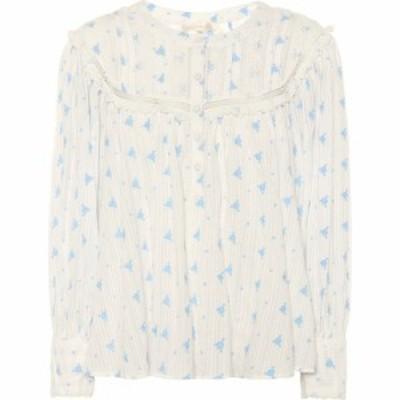 ラブシャックファンシー LoveShackFancy レディース ブラウス・シャツ トップス dionne floral cotton blouse Bubble Blue