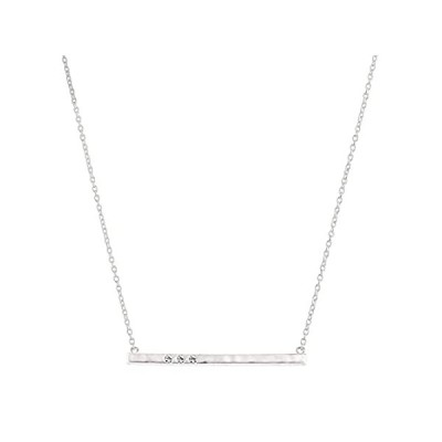 Silpada 'Dotted Line' Necklace with Swarovski Crystals in Sterling Silver,