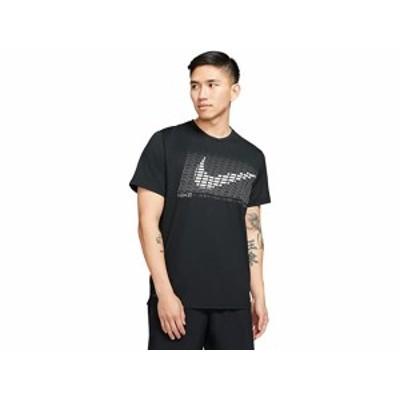 (取寄)ナイキ トップ ショート スリーブ ハイパー ドライ グラフィック SP Nike Top Short Sleeve Hyper Dry Graphic SP Black/White
